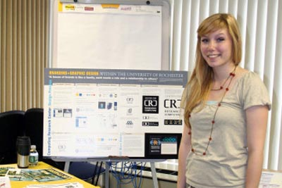 Intern with poster