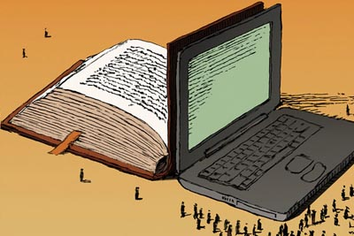 book and laptop