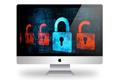 iMac with locks on screen