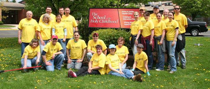University IT staff volunteered at Holy Childhood for the United Way Day of Caring on May 9, 2013.