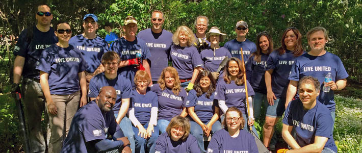 University IT staff volunteered at the Alzheimer's Association for the United Way Day of Caring on May 14, 2015.