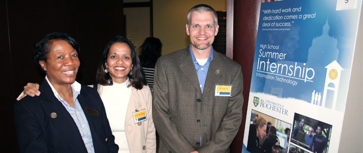 IT staff presented on the UR Valued and IT internship programs at the University's Diversity Conference.