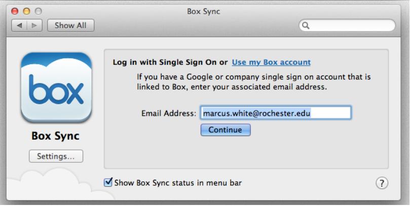 box mac email setup screenshot