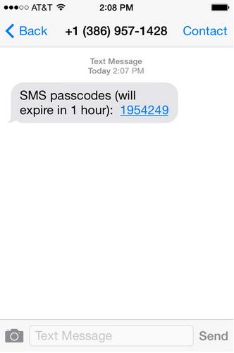 duo passcode screenshot