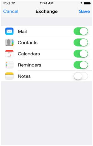 iOS-options