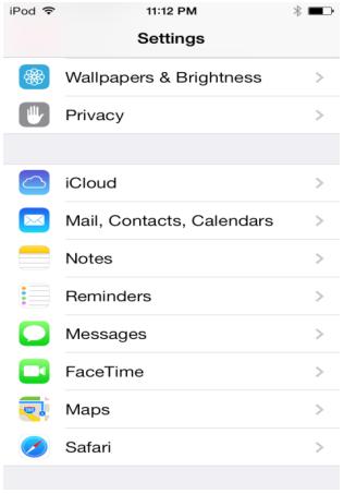 iOS-settings