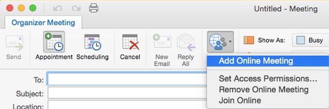 Skype Meeting from Outlook on Mac - University IT