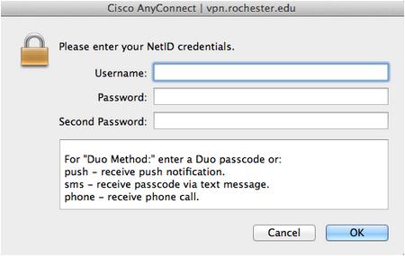 Connect / Disconnect VPN on Mac - University IT