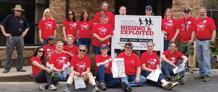 University IT staff volunteered at the National Center for Missing & Exploited Children for the United Way Day of Caring in May 2019.