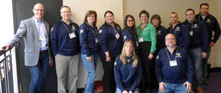University IT staff at the 2016 HEDW Conference