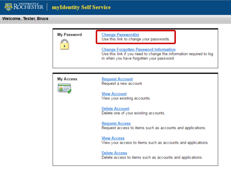 Change HRMS Alternate Login ID Password - University IT