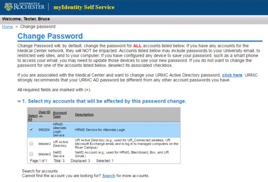 Change HRMS Alternate Login ID Password - University IT