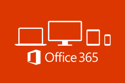 Office 365 logo and devices