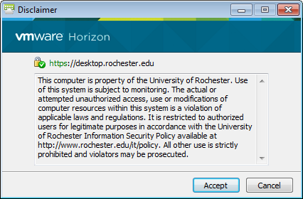 Log In with Horizon Client - University IT